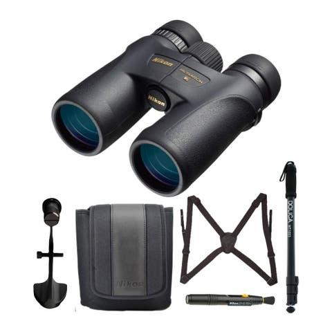 "Nikon Monarch 7 8x42 Roof Prism All-Terrain Binoculars Advanced Bundle - 5.6"" x 5.1"""