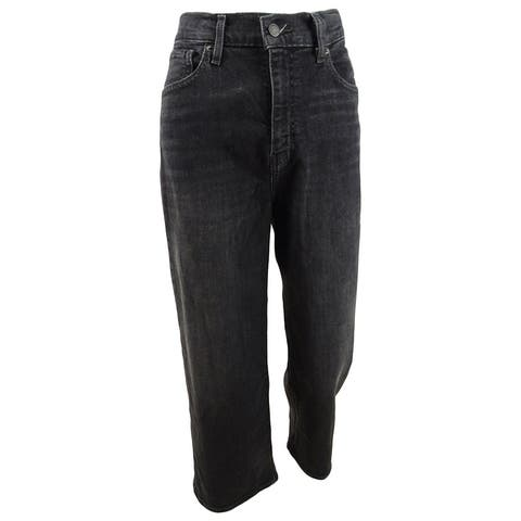 Levi's Women's Super Wide Leg Cropped Jeans (26, Call It A Night) - 26