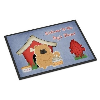 Carolines Treasures BB2898MAT Dog House Collection Chow Chow Cream Indoor or Outdoor Mat 18 x 0.25 x 27 in.