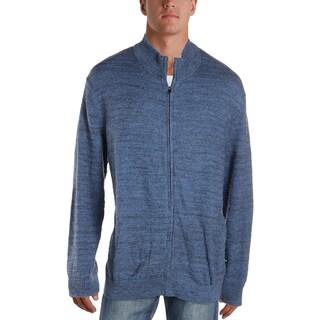 Nautica Mens Sweater Heathered Ribbed Trim