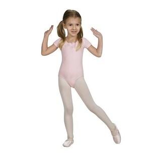 Sansha Pink Faustina Short Sleeve Rhinestones Dance Leotard 4-14
