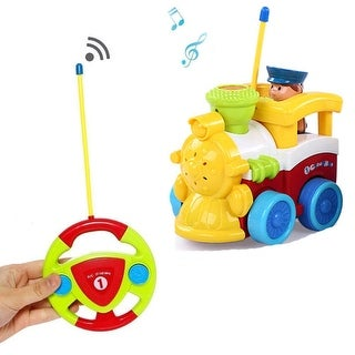 Cartoon RC Train Car Radio Control Toy for Toddlers Kids Gift