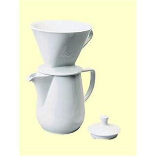Melitta porcelain pour-over coffee maker | williams sonoma.