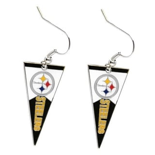 Pittsburgh Steelers NFL Pennant Dangle Earring