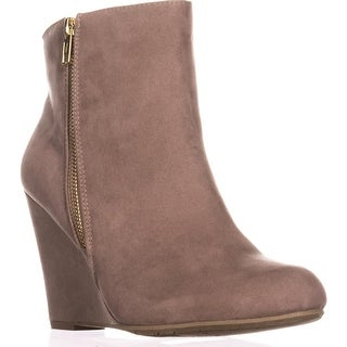 Report Russi Wedge Ankle Booties, Taupe