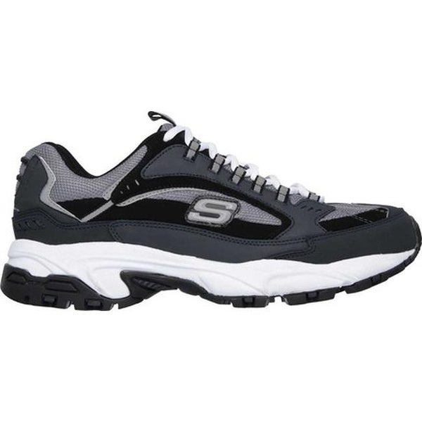 Shop Skechers Men's Stamina Cutback Training Shoe NavyBlack