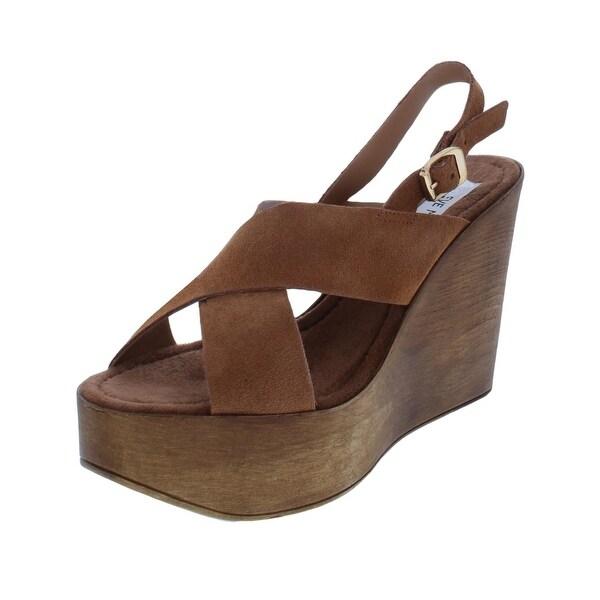 2ed2282d1d9 Shop Steve Madden Womens Bali Platform Sandals Suede Slingback - On ...