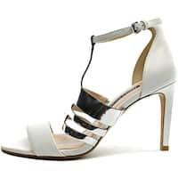 French Connection Womens Lia Leather Open Toe Ankle Strap D-orsay Pumps