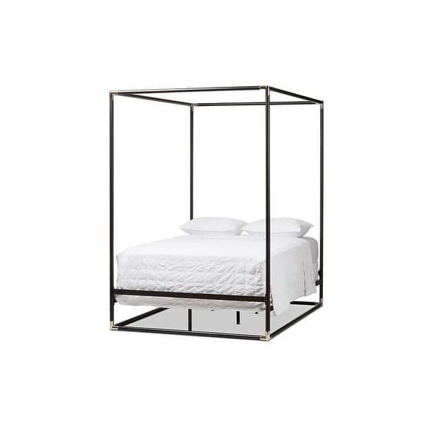 Eva Black Finished Metal Canopy Bed