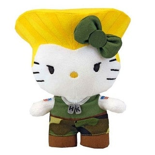"Hello Kitty Street Fighter X Sanrio Capcom Guile Mini 6"" Plush - multi"