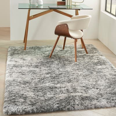 Nourison Luxurious Shag Contemporary Abstract Area Rug