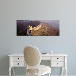 Easy Art Prints Panoramic Images's 'High angle view of the Great Wall Of China, Mutianyu, China' Premium Canvas Art