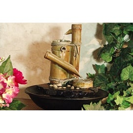 Alpine Eternity Bamboo Slide Tabletop Fountain [Kitchen]