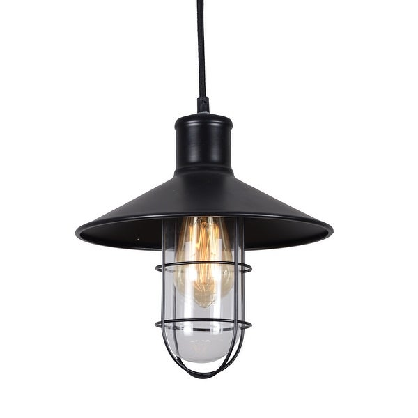 Shop Wire cage glass pendant lamp black vintage industrial pendant ...