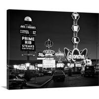 Premium Thick-Wrap Canvas entitled 1980's Night Neon On The Strip For El Morocco La Concha Stardust Las Vegas Nevada