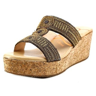 J. Renee Trena Open Toe Synthetic Slides Sandal