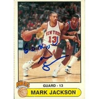 Mark Jackson Autographed Basketball Card New York Knicks 1988 Frit