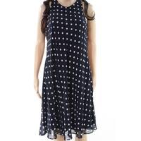 Lauren By Ralph Lauren Womens Polka Dot Shift Dress