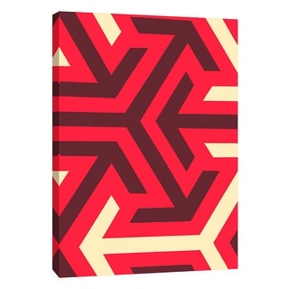 "PTM Images 9-108746  PTM Canvas Collection 10"" x 8"" - ""Monochrome Patterns 8 in Red"" Giclee Abstract Art Print on Canvas"