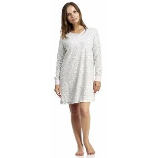 Rene Rofe Women's Sleep So Soft Long Sleeve Sleepshirt - Animal