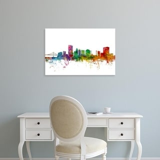 Easy Art Prints Michael Tompsett's 'Toledo Ohio Skyline' Premium Canvas Art