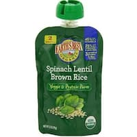 Earth's Best - Organic Spinach Lentil Brown Rice Puree ( 12 - 3.5 OZ)
