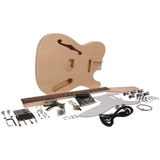 DIY Tele Style Semi-Hollow Electric Guitar Kit - Unfinished Luthier Project Kit