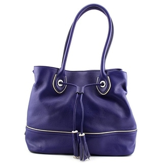 Cole Haan Riley Tassel Tote Leather Tote - Blue
