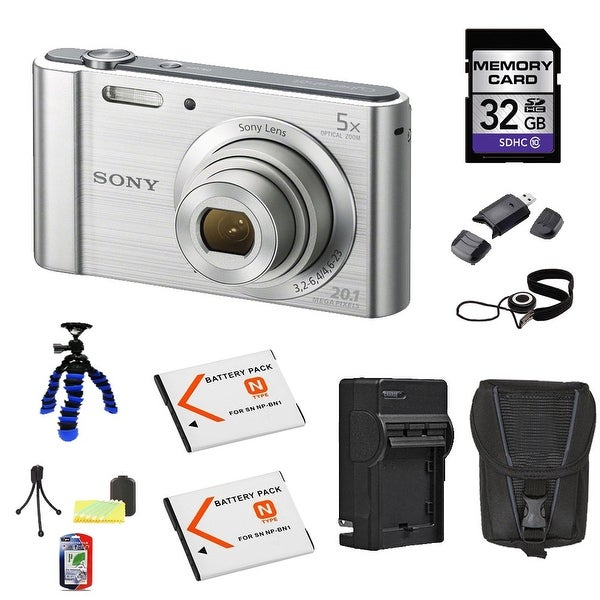 Sony DSC-W800 Silver 32GB Camera Bundle