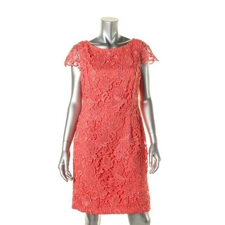 Vince Camuto Womens Macrame Open Back Cocktail Dress - 6