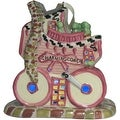 Whimsical Village Collection Pink Baby Carriage Ornament - Thumbnail 0