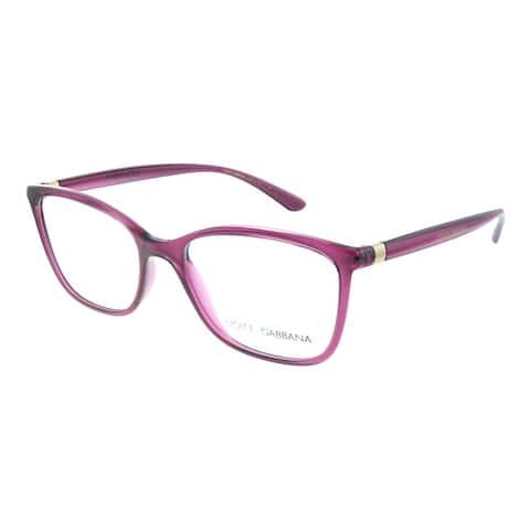 Dolce & Gabbana DG 5026 1754 52mm Womens Transparent Black Cherry Frame Eyeglasses 52mm