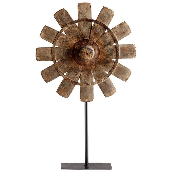 Cyan Design 08915 Azteka Iron and Wood Farm and Country Statue - Rustic