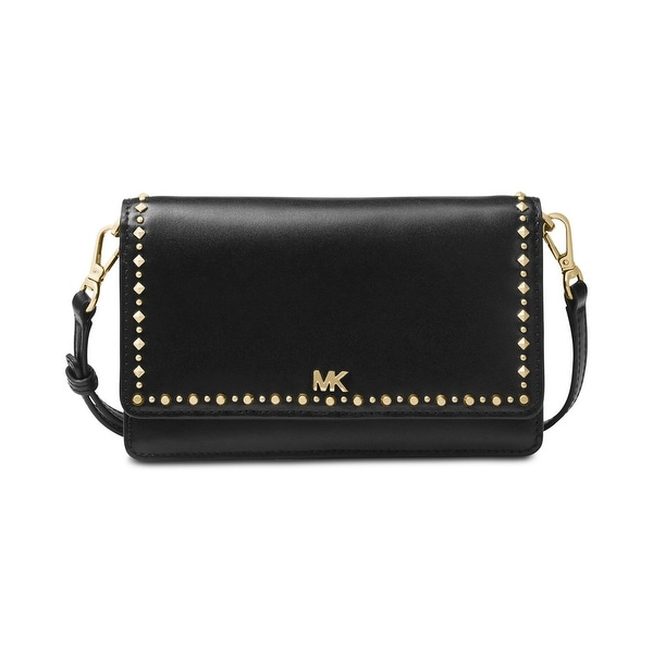 438af5bae486 Shop MICHAEL Michael Kors Studded Leather Phone Crossbody - Free ...