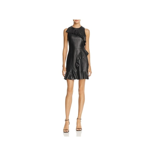 Shop Parker Womens Hollywood Basic Cocktail Dress Leather