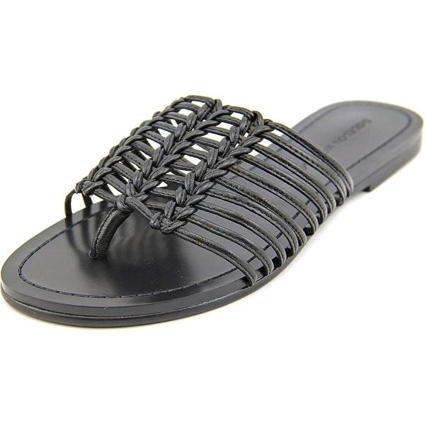 Sigerson Morrison Bobi Open Toe Leather Slides Sandal