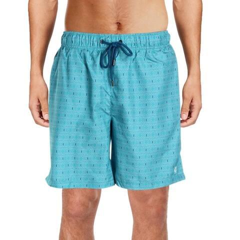 IKE By Ike Behar Mens Printed Quick Dry Swim Trunks