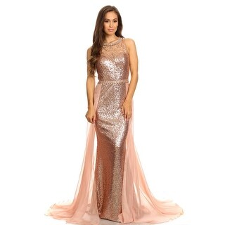 Sleeveless Sequin Sheath