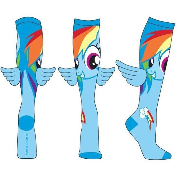 My Little Pony Rainbow Dash Juniors Knee High Blue Socks with Wings