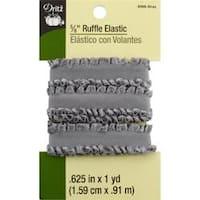 "Gray - Dritz Ruffle Elastic 5/8""X1yd"