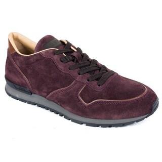 Tod's Men's Dark Purple Runner Suede Sneakers