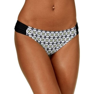 Hula Honey Womens Sand Trap Swim Bottoms Geo-Print Swim Bottom Separates - L