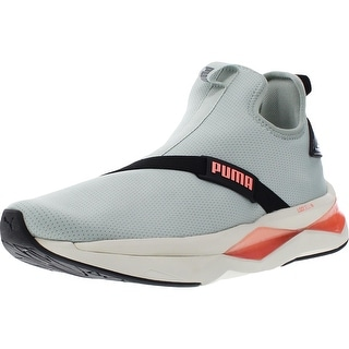Link to Puma Womens Shatter XT Mid Pearl Mid-Top Sneakers Exercise Laceless - Aqua Gray/Puma Black/Marshmallow - 10 Medium (B,M) Similar Items in Women's Shoes