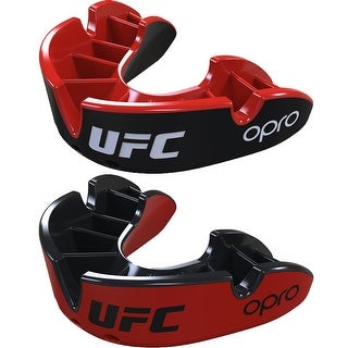 OPRO UFC Adult Silver Sparring Level Self-Fit Gel Comfort Mouthguard