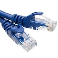 10 foot, Cat6 Slim Finger Boot Ethernet Patch Cable - Blue