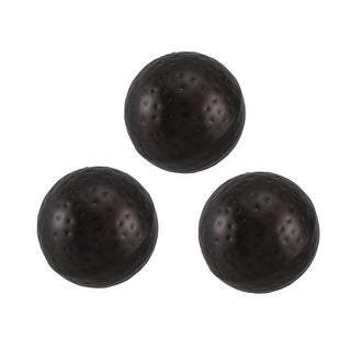 3 Piece Polished Antique Copper Finish Dimpled Metal Decor Ball Set 4 Inch - 3.75 X 3.75 X 3.75 inches