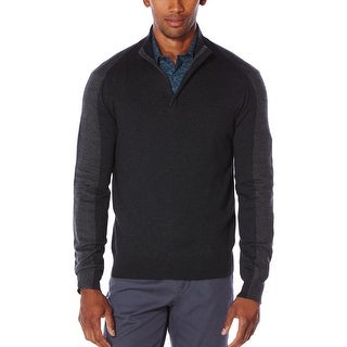 Perry Ellis Mens Pullover Sweater Colorblock 1/4 Zip
