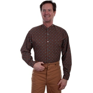 Scully Western Shirt Mens Wahmaker Front Button Band Collar 541520