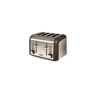 Nesco T1600-13 1000 Watt 4 Slice Toaster Stainless Steel