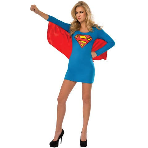 Rubies Supergirl Cape Dress Adult Costume - Blue
